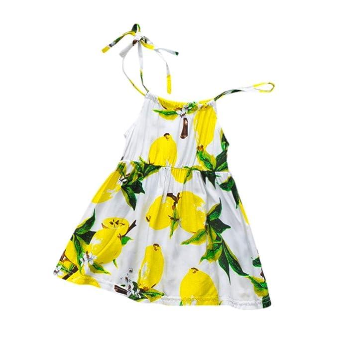 Niña Vestido Liquidación, Beikoard Bebe niñas lactantes hijos de frutaCorrea vestido de princesa vestido de ropa casual de limón Vestidos: Amazon.es: Ropa y ...