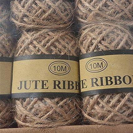 0e4f87bbccb3 Amazon.com: FINCOS 24Rolls 5m/10m Natural Cords Woven Hemp Rope DIY ...