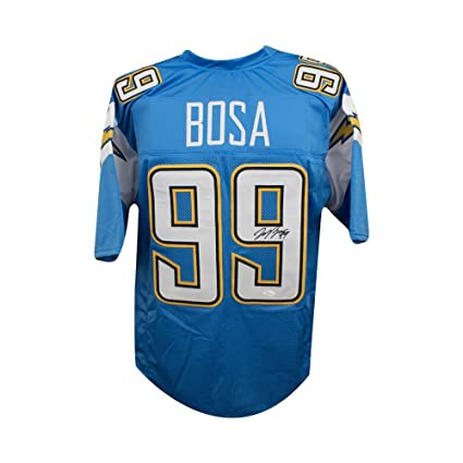 save off 3dafc abe1d Joey Bosa Autographed Los Angeles Chargers Custom Blue ...