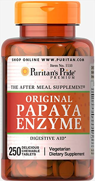 Amazon.com: Puritan s Pride Papaya enzyme-250 chewables ...