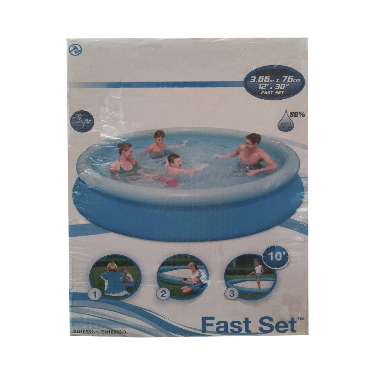 Dabuty Online, S.L. Piscina hinchable easy set medidas 366 x 76 cm. Capacidad 5.621 litros: Amazon.es: Hogar