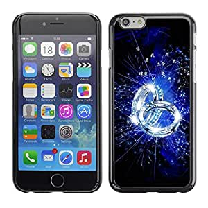 PC/Aluminum Funda Carcasa protectora para Apple Iphone 6 Blue Ring / JUSTGO PHONE PROTECTOR