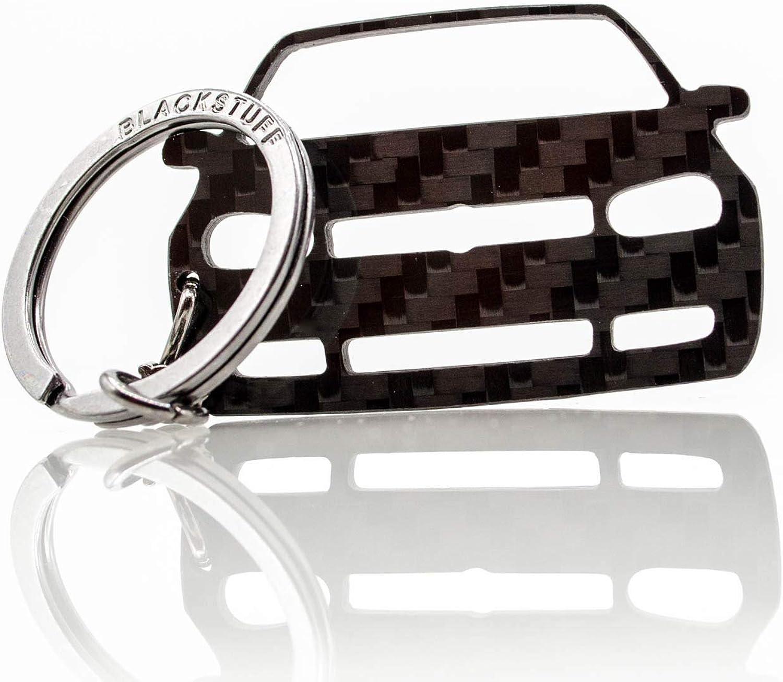 Blackstuff Carbon Karbonfaser Schlüsselanhänger Kompatibel Mit Golf Gti Mk4 1997 2003 Bs 163 Bekleidung