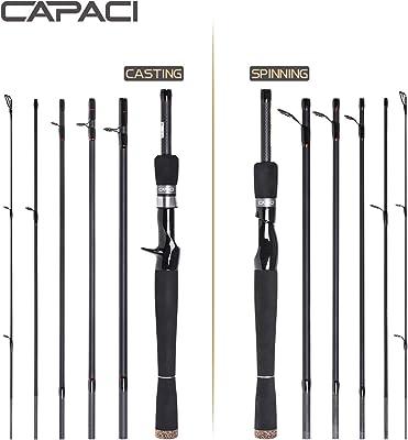 CAPACI Spinning Bass Fishing Rod