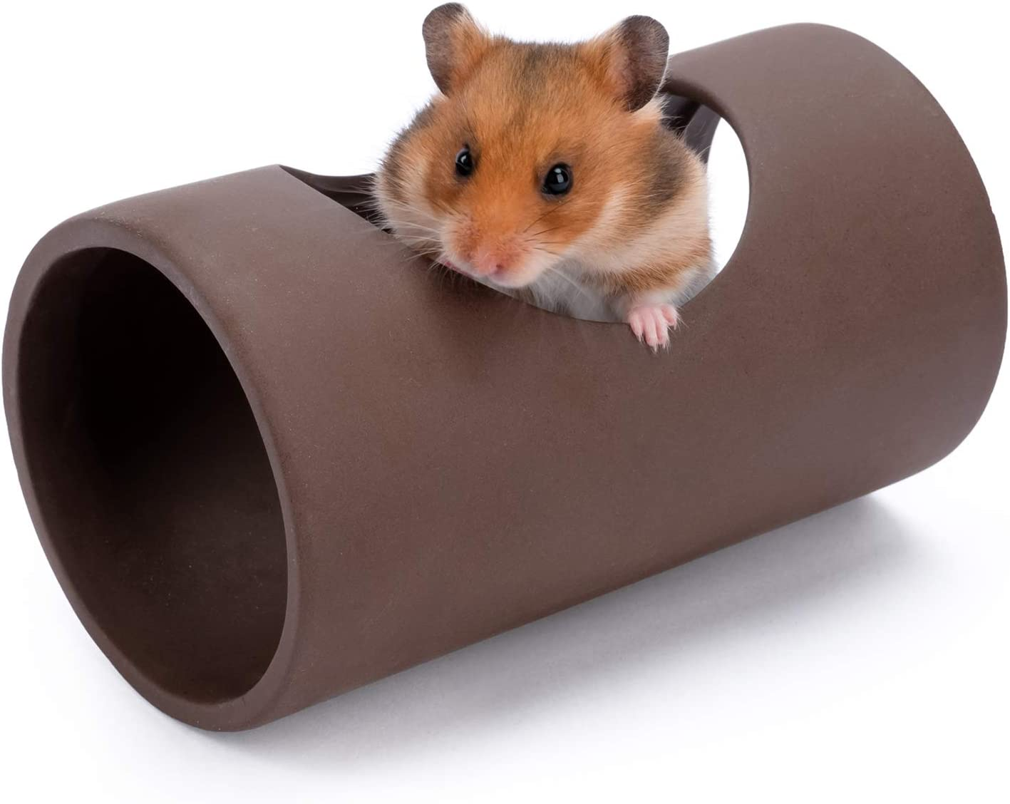 Niteangel Ceramic Hamster Tunnel & Tubes Hideout: for Dwarf Robo Syrian Hamsters Mice Rats or Other Small Animals