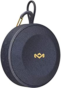 House of Marley, No Bounds Outdoor Speaker 10-Hour Battery, Water & Dust-Proof , IP67, Buoyant, Carabiner, Quick Charge, Charging Cable, Aux-In, Wireless Dual Speaker Pairing, Speaker phone Blue