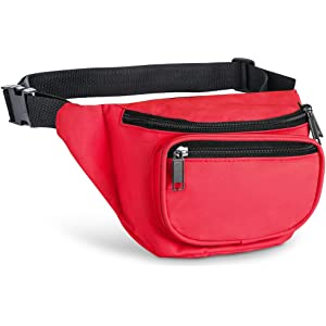 89deba83ddb2 Fanny Pack, AirBuyW 3 Zippered Compartments Adjustable Waist Sport Fanny  Pack Bag