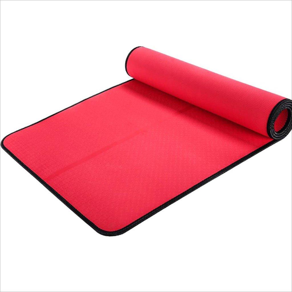 Haodan electronics Kein Geruch 6mm TPE Yoga-Matte, Widen Anti-Rutsch-Fitness-Yoga-Matte, präsentiert mit Straps und Net Bag, 185  80 cm