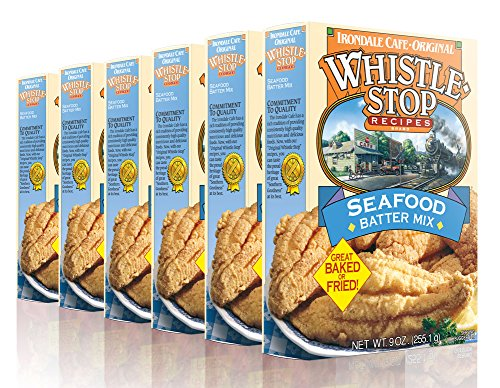 Original WhistleStop Cafe Recipes   Seafood Batter for Baking or Frying Fish   9-oz   Case of 6