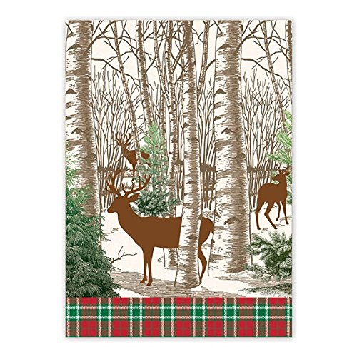 Michel Design Works TOW294 Cotton Kitchen Dish Towel, Winter Woods ()