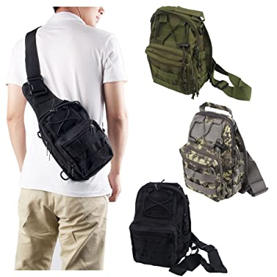 Outdoor Military Tactical Chest Pack Shoulder Molle Camping Hiking Pouch Bag