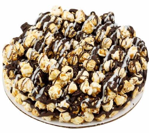 Caramel popcorn, Holiday Yummy Chocolate Drizzled Caramel Popcorn Pie