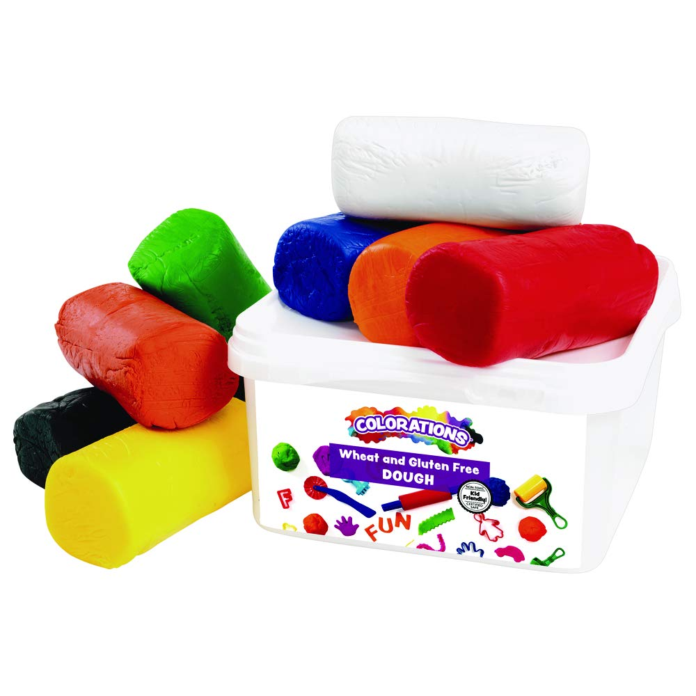 Colorations Wheat and Gluten-Free Multicolor Modeling Dough 8 Colors (5 1/2 lbs.)