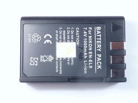 batería para Nikon EN-EL 9, EN-EL9a (D40, D60, D3000, D5000)