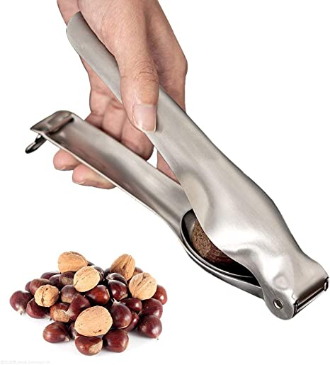 Stainless Steel Chestnut Clip Plier Sheller Nut Chestnut Cracker Walnut Opener