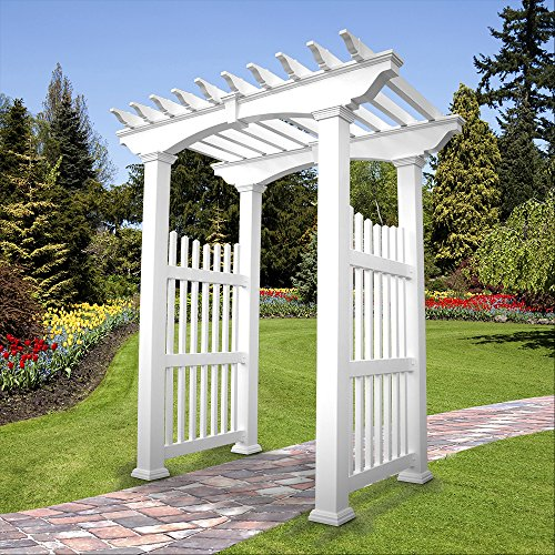 Weatherables Victorian Vinyl Arbor, 96.5 by 59-Inch