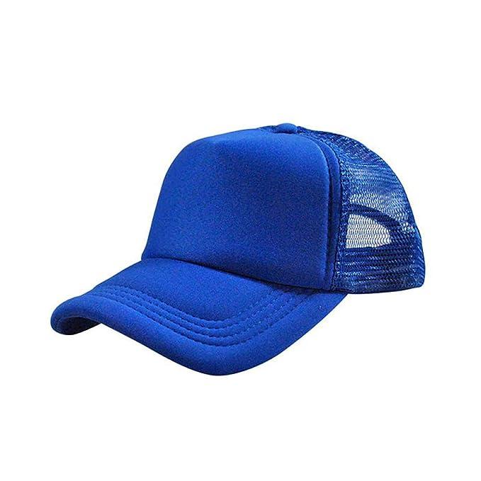 d4754e8aede63 Jeremy Stone Men Adjustable Baseball Cap Mesh Plain Color Cap Trucker Hat  Blank Curved Hat