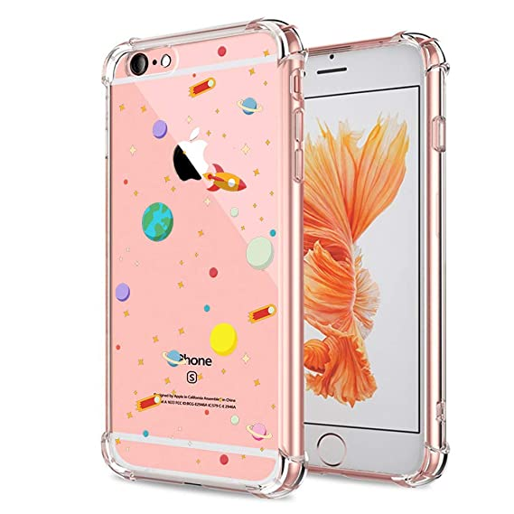 Amazoncom Iphone 6s Case Clear Crystal Clear With Design Cute