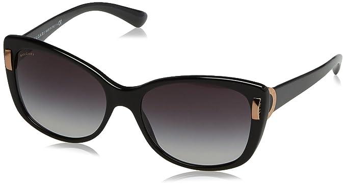 Bulgari BVLGARI Damen Sonnenbrille 0BV8164B 501/8G, Schwarz (Black/Gradient), 56