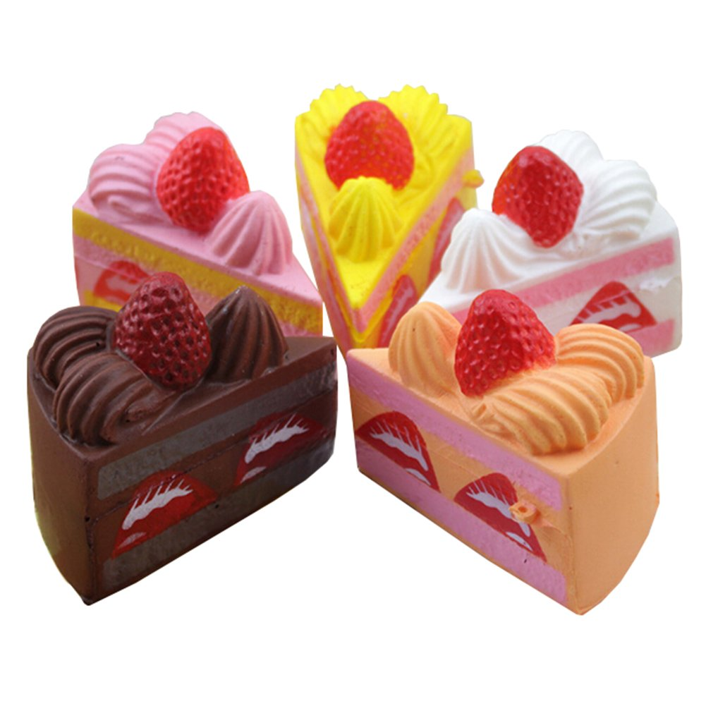 1PC Squishy Strawberry Layer Cake Phone Straps Cream Perfume Slow Rising Random Color