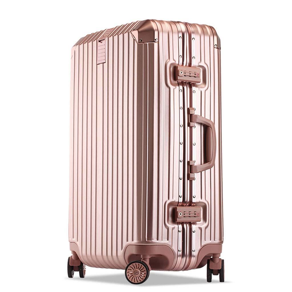FRF トロリーケース- 人および女性の方法普遍的な車輪のトロリー箱、学生のパスワードボックスのスーツケーススーツケース (色 : ローズゴールド, サイズ さいず : 20in) 20in ローズゴールド B07QRNDK7C