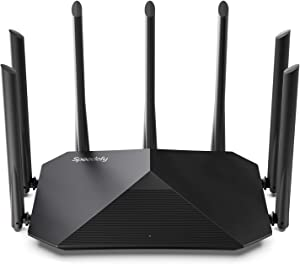 Speedefy AC2100 Smart WiFi Router - Dual Band Gigabit Wireless Router for Home & Gaming, 4x4 MU-MIMO, 7x6dBi External Antennas for Strong Signal, Parental Control, Support VPN & IPv6 (Model K7)