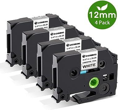 5 Schriftbänder kompatibel zu Brother P-Touch TZE-252 8m//24mm Rot auf Weiß