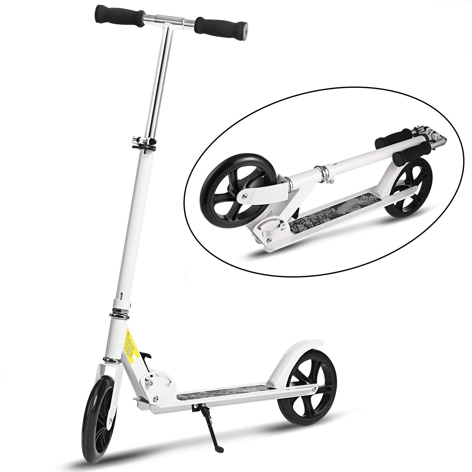 WeSkate Adult Scooter Teenager Foldable 3 Levels Adjustable Height 2-Wheel Kick Scooter for Teens Young Women Men Support 100KG(220lbs) Weight by WeSkate