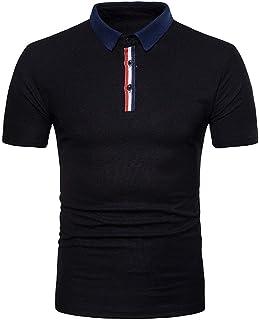 da Uomo Polo Shirt Uomo Estate Button Bavero Polo Manica Corta Tops Chic Basic Casual Fashion Slim Fit Polo Polo Top