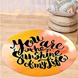 Niasjnfu Chen Custom carpetQuotes Decor Retro Love Spouse Lettering over Psychedelic Hazy Cloud Splashes Image for Bedroom Living Room Dorm Orange Yellow