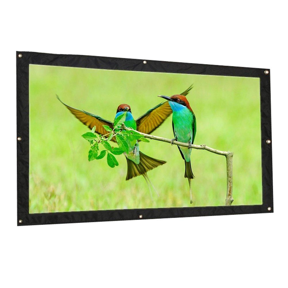 : : Pantalla para Proyector Plegable Pantalla de Proyección Portátil para HDTV