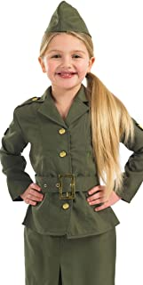 WW2 Army Girl costume  size Large 8-10 years  sc 1 st  Amazon UK & Army Girls WW2 Military 1940s Soldier Uniform Book Day Childrens ...