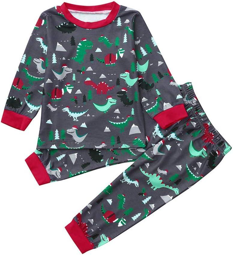 Infant Baby Kids Little Boys Dinosaur Print Long Sleeve Tops Pants Homewear Sleepwear Outfits for 1-5 Y Age: 2-3 Years Old TM Little Boy Dinosaur Pajamas Sets,Jchen