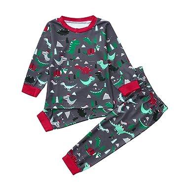 c364d9f45ed0 Amazon.com  Winsummer Christmas Toddler Kid Baby Boys Girls Dinosaur ...