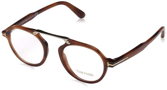 45b1e7539e9b Tom Ford Blonde Havana Eyeglasses FT5494 053 47 at Amazon Men s ...