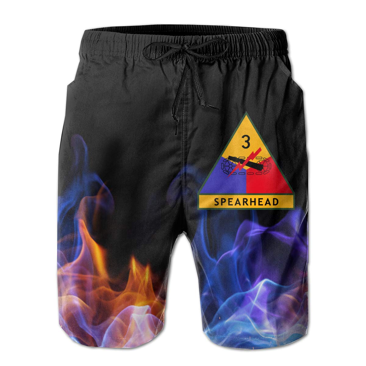 3rd Armored Division Mens Board Shorts Beach Swim Trunks Casual Classic Fit Shorts