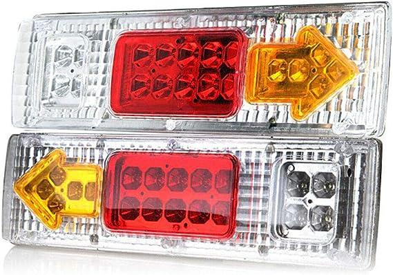 1 Paar 19 Led Anhänger Rücklichter Integrierte Blinker Laufleuchte Für Atv Truck Küche Haushalt