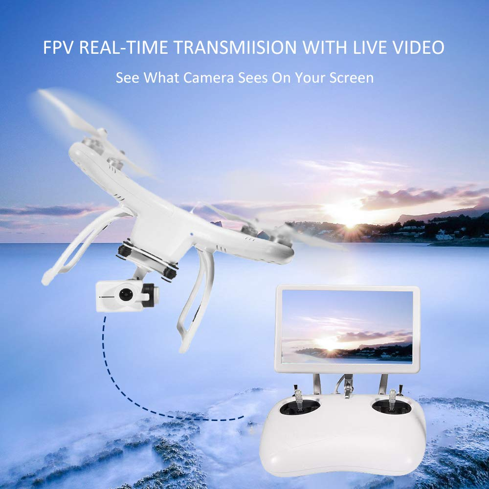 UPAIR One Drone 2.7K with 7 inch Screen, Quadcopter Drone with Camera, 5.8G FPV Monitor Transmit Live Video, Altitude Hold/Headless Mode/GPS Position Hold/One Key Return, Drone for Beginners