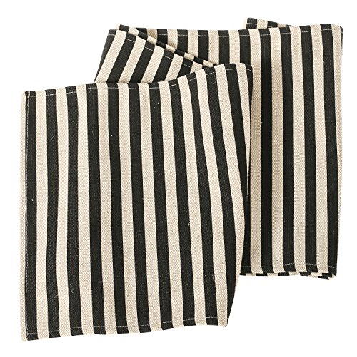 Ling's moment Classic Durable 1/2 Inch Black and Cream Strip