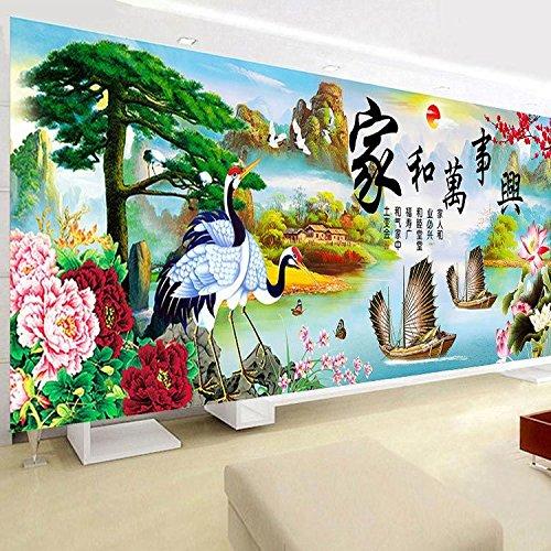 AIGUFENG hecho a mano en punto de cruz bordado decoración sala de estar pintura sala de estar hogar y todas las cosas fortuna Edición Fortune,235 * 95cm: ...