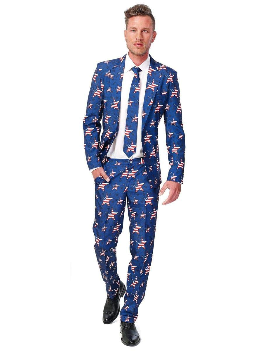 Suitmeister-USA-Suit-with-American-Flag-Print-for-Men-Coming-with-Pants-Jacket-Tie-Perfect-for-4th-of-July
