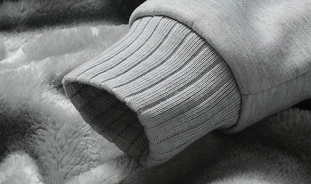 Muranba Clearance Mens Winter Warm Fleece Hooded Zipper Outwear Coat