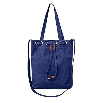 5e5c15edbac Bolso Bandolera Bolsa de hombro de lona Grande Azul para Mujer y Shoppers  por ESAILQ F  Amazon.es  Equipaje