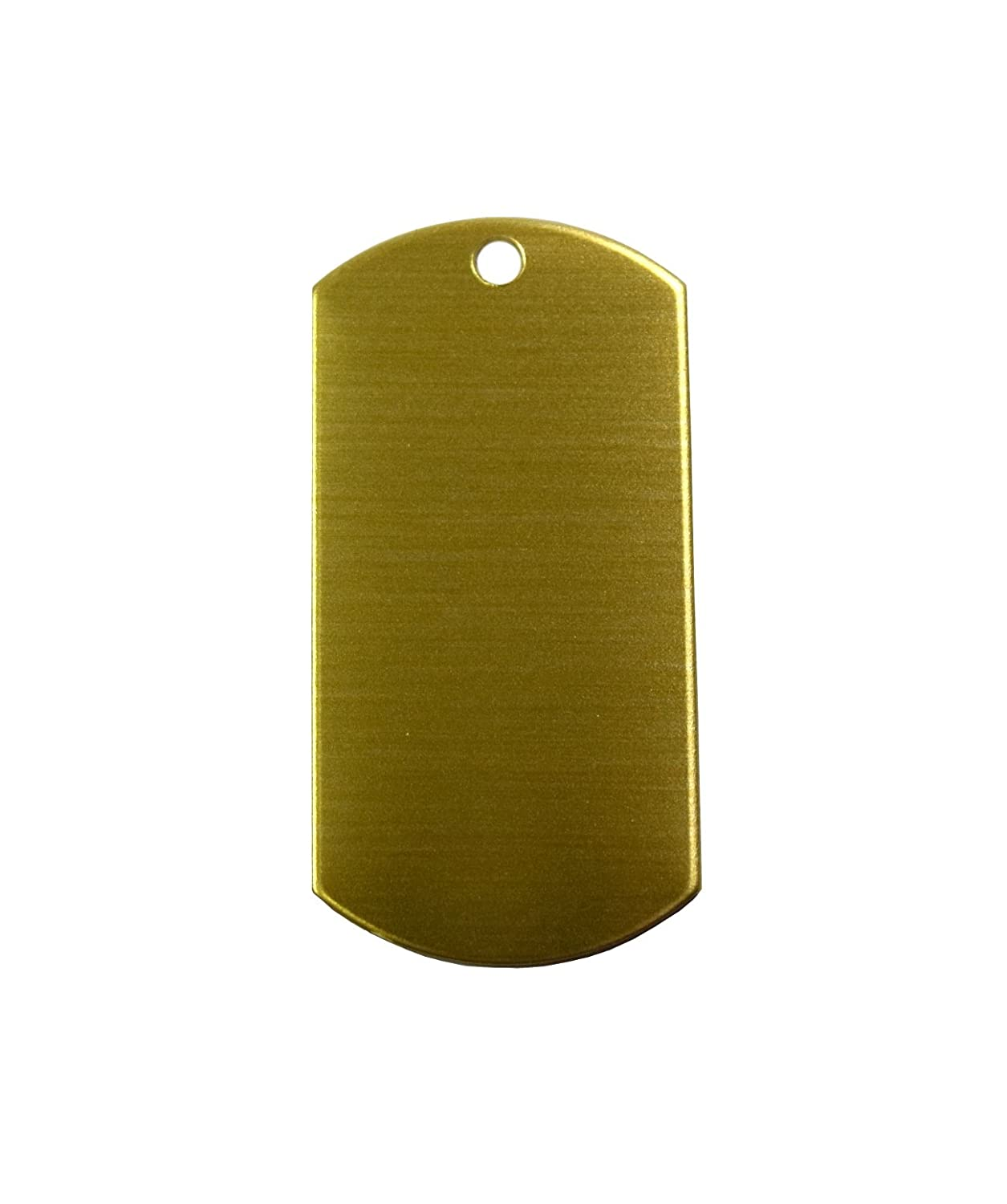 RMP Stamping Blanks, 1 Inch x 2 Inch Dog Tag with One Hole, Brass 0.032 Inch (20 Ga.) - 20 Pack