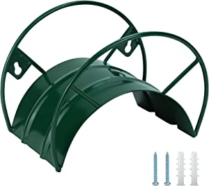 Lxpercy Garden Hose Holder - Solid Metal Wall Mount Hose Holder - Durable Hose Hanger Easily Holds 125feet 5/8