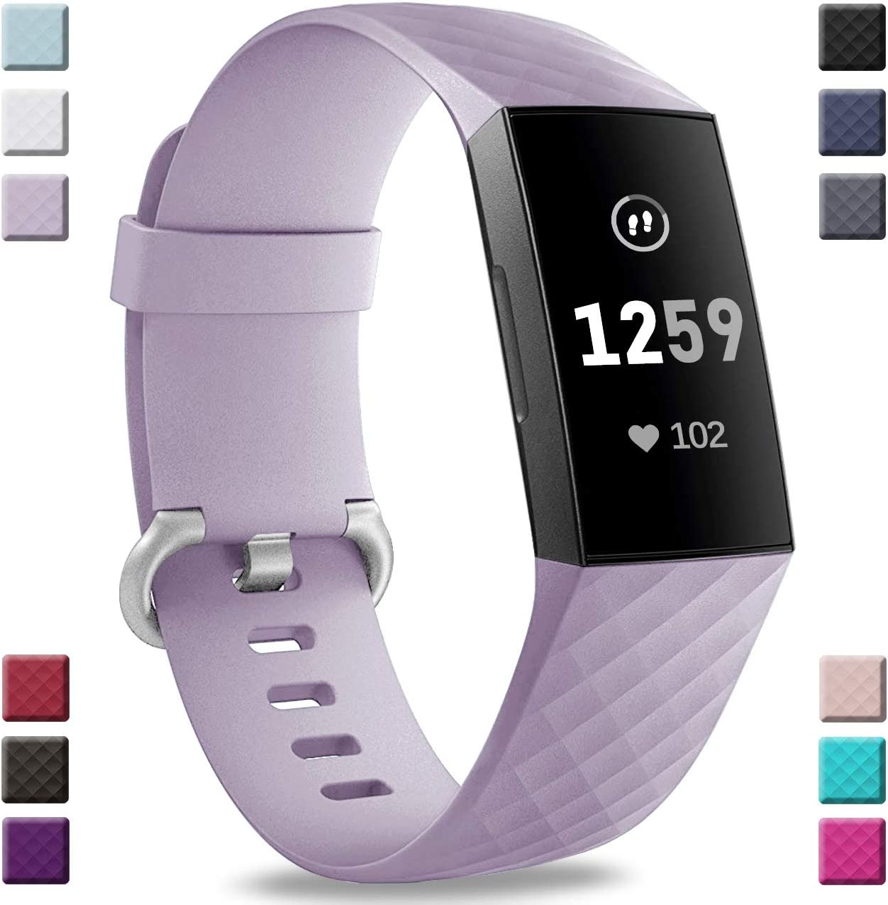 Malla Para Reloj Fitbit Charge 3 Y Charge 3 Se Lila(L)