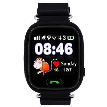9Tong Reloj Inteligente para Niños con GPS, Reloj Inteligente para Niños con Rastreador GPS y Soporte SIM gsm con Pantalla Táctil, Llamadas de ...