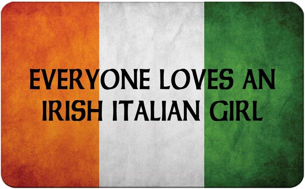 Makoroni - EVERYONE LOVES AN IRISH ITALIAN GIRL Irish Ireland Flag Des#1 Refrigerator Wall Magnet 2x3 inc