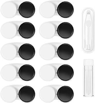 Healifty Caja de Lentes de Contacto - 12PCS Kit de Viaje - Pinzette e applicatore inclusi - Estuche para lentes de contacto - Caja Para Lentillas - Estuche Lentillas: Amazon.es: Salud y cuidado personal