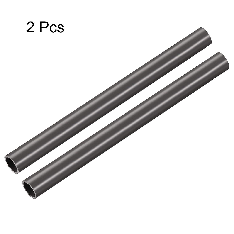 Plastic Flexible Water Pipe 16mm 5//8 Gray ID x 20mm uxcell 2pcs PVC Rigid Round Tubing 3//4 OD 0.5m